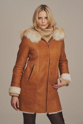 Dámský zimní kožený kabát - Kožich dubeňák