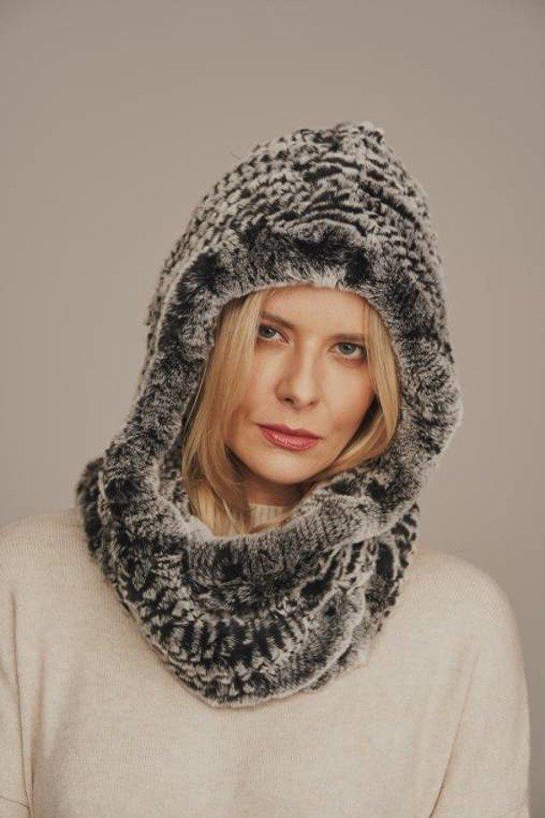 Dámský zimní kožešinový šál Přírodní kožešinový šál