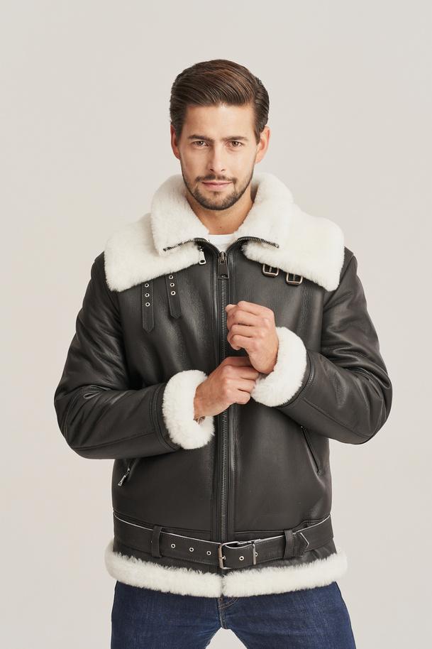 Letecká bunda s kožíškem - Zimní pilotní bunda