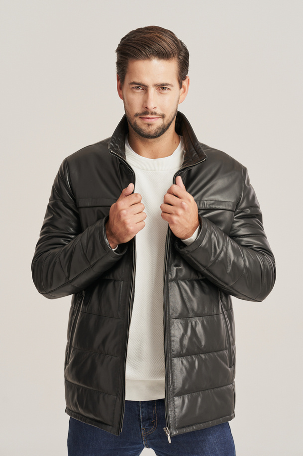 Pánská zimní kožená bunda