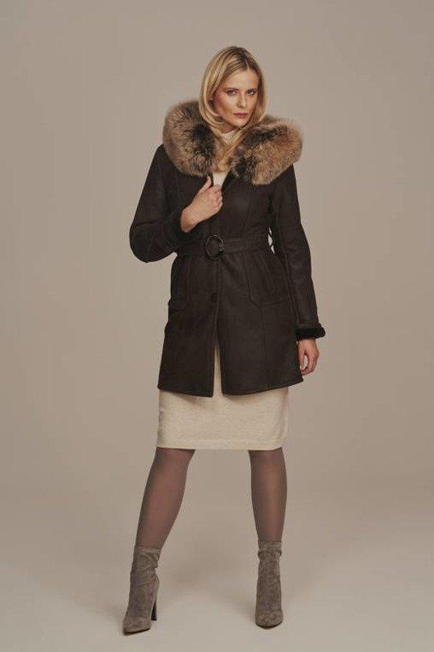 Lamb shearling coat womens