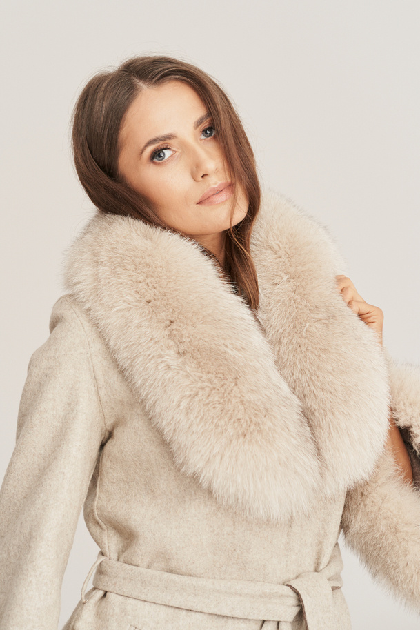 Damen Mantel aus Alpaka