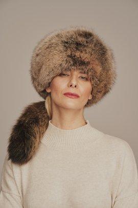 Fox fur hat womens