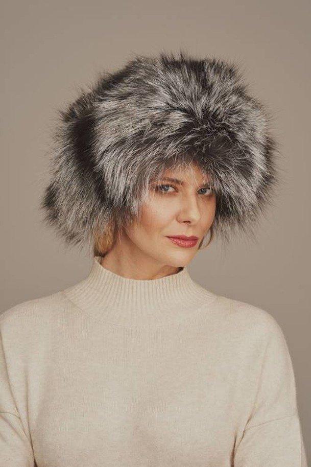 Real fox fur hat