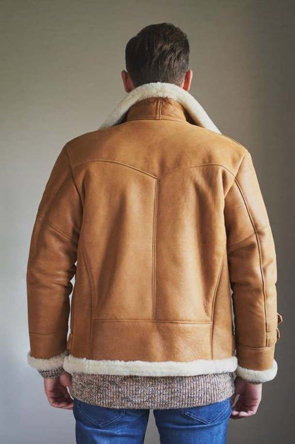 Kurtka męska zimowa typu ramoneska - Kożuszek męski