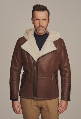 Pánska zimná bunda s kapucňou