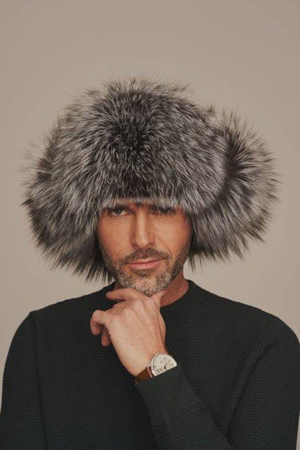 Pánska zimná kožušinová čiapka